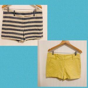 Ann Tsylor 2pc Summer shorts chambray yellow 6/8